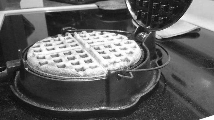 using a cast iron waffle maker