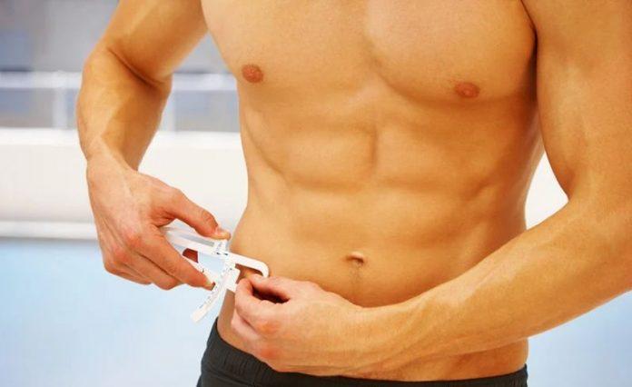 using body fat calipers